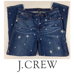 J. Crew Vintage Straight Star Print Jeans